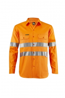 Vented Light Weight Hi Vis L/S Shirt with 3M Tape