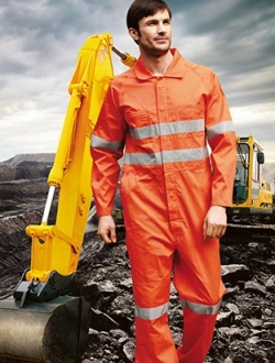 WO0683 Hi Vis Overalls with X Reflective Tape