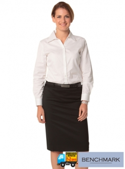 Women's Poly/Viscose Stretch Mid Length Lined Pencil Skirt