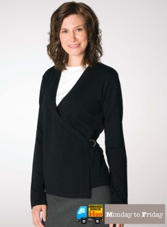 Wrap Cardigan With Buckle