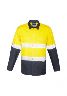 Z129 Unisex Hi-Vis Spliced Rugged Shirt Tape