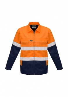 ZJ590 HiVis Cotton Drill Jacket Mens