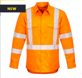 ZW690 Hi Vis X Back Taped Shirt Mens