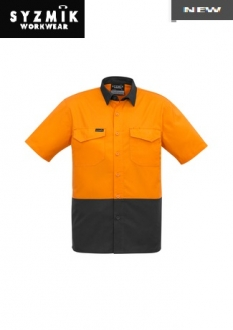 ZW815 Mens Rugged Cooling HiVis Spliced S/S