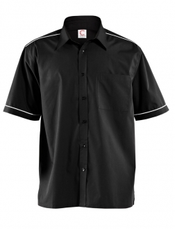 MENS SHORT SLEEVE SHIRT WITH PIPING