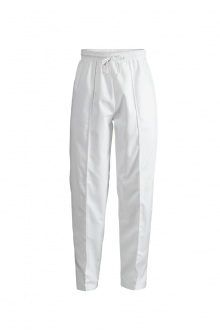 UNISEX ELASTIC DRAWSTRING WAIST PANT WITH PIN STITCHING